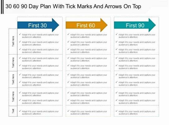 90 Day Action Plan Template Elegant 30 60 90 Day Plan with Tick Marks and Arrows top Powerpoint Ideas