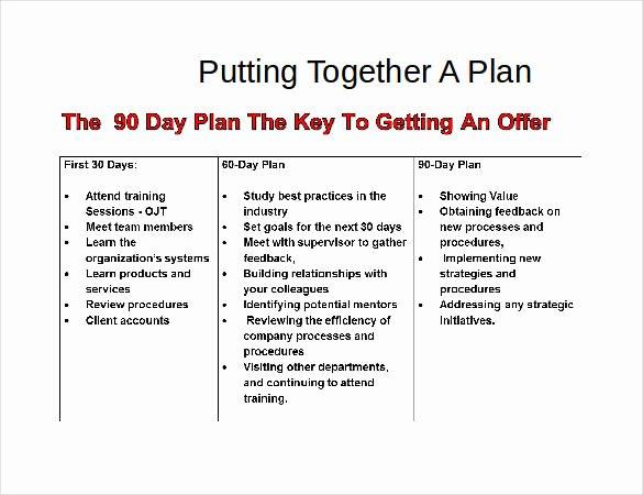 90 Day Action Plan Template Elegant 31 30 60 90 Day Plan Templates Pdf Doc