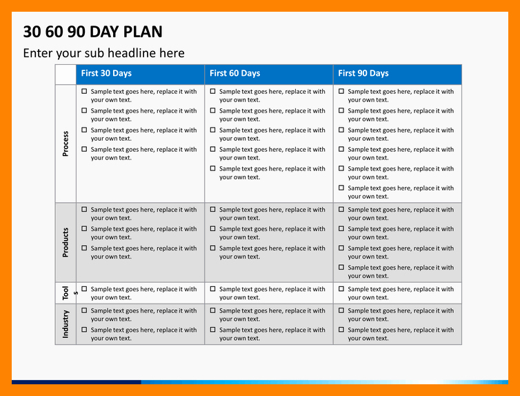 90 Day Action Plan Template New 30 60 90 Day Action Plans