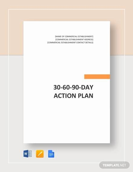 90 Day Action Plan Templates Awesome 30 60 90 Day Action Plan 12 Documents In Pdf Word