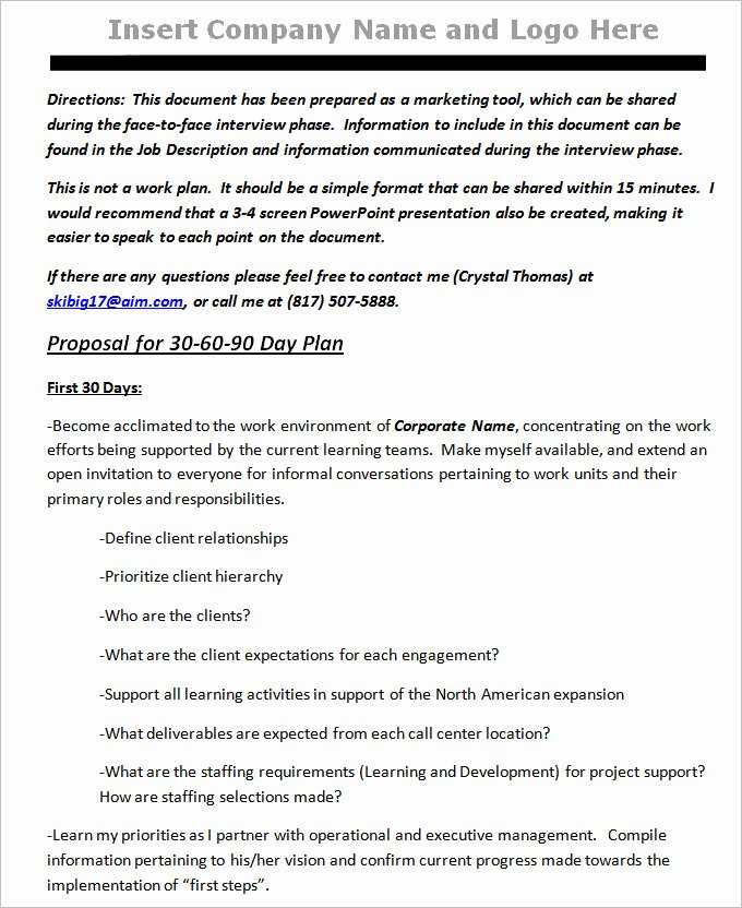 90 Day Action Plan Templates Best Of 30 60 90 Day Plan Template Free Word Pdf Documents Download