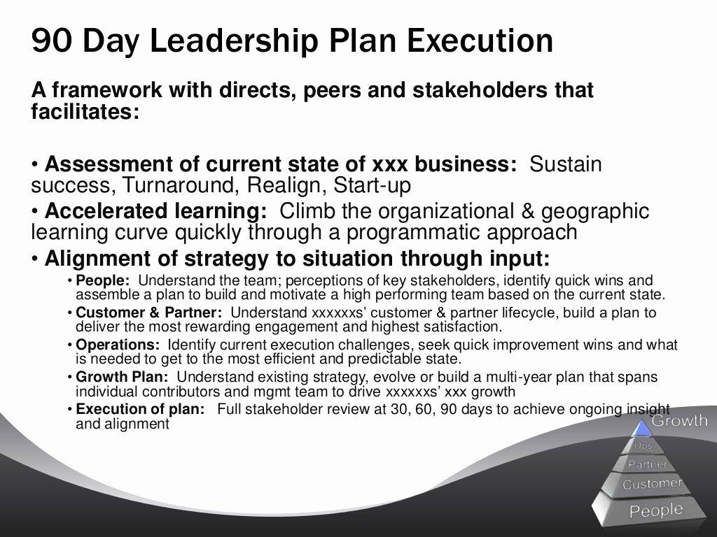 90 Day Action Plan Templates Elegant Sample 90 Day Leadership Plan