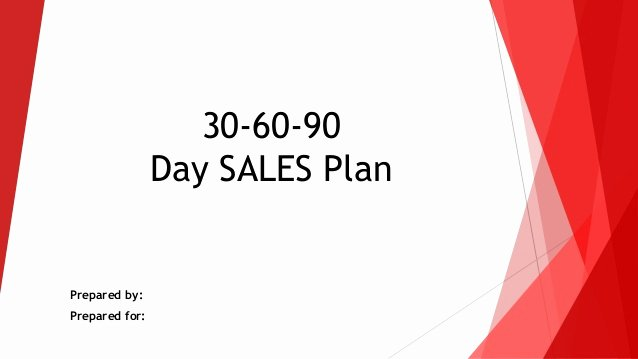 90 Day Action Plan Templates Fresh 30 60 90 Day Sales Action Plan