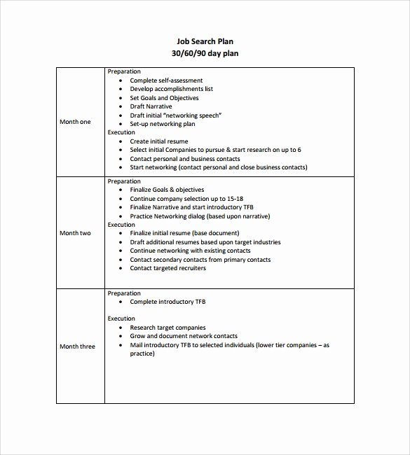 90 Day Action Plan Templates New Writing A 90 Day Plan for A New Job Fer