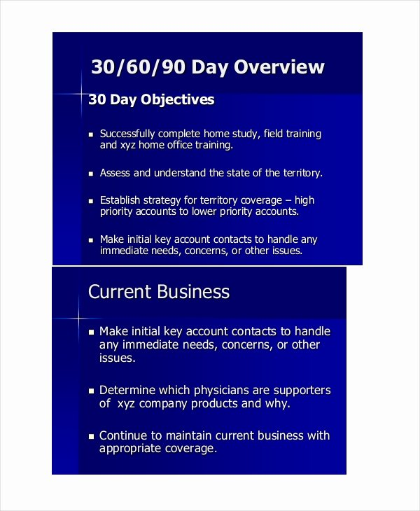 90 Day Business Plan Template Awesome 26 Examples Of 30 60 90 Day Plans Word Pdf Google Docs