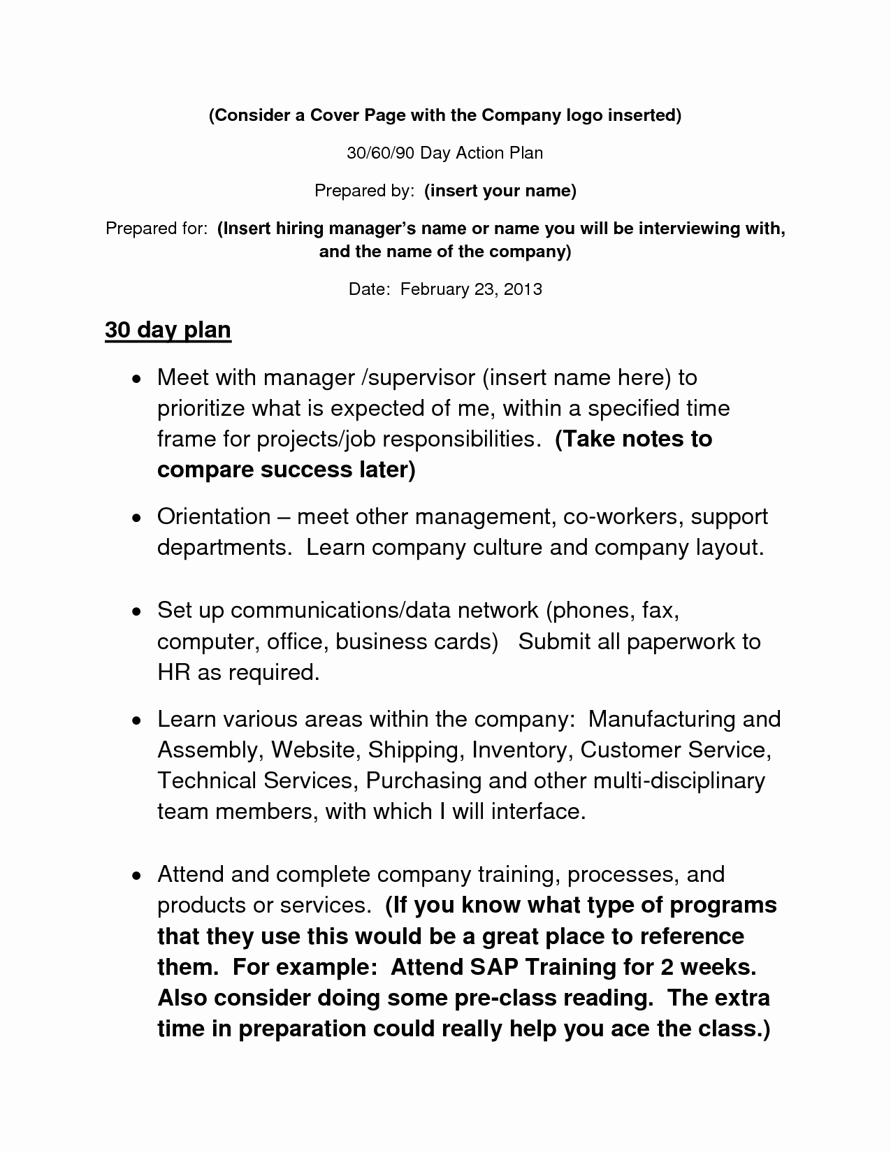 90 Day Business Plan Template Beautiful 30 60 90 Day Action Plan Template Info Pinterest