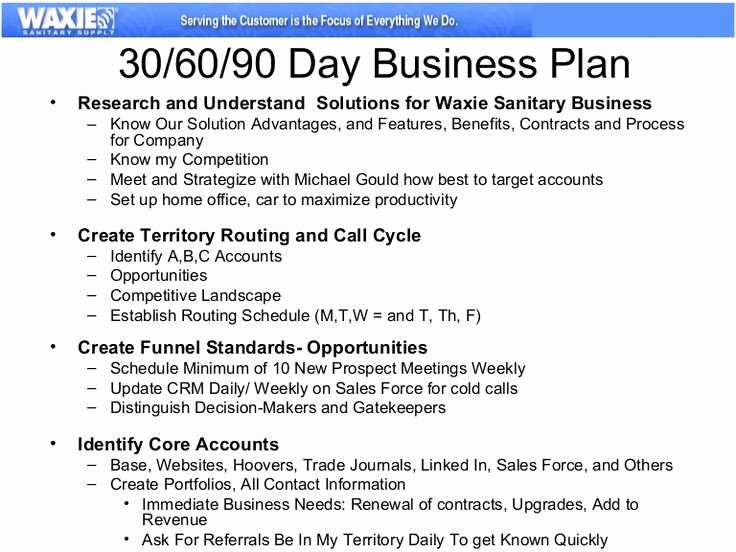 90 Day Business Plan Template Beautiful Example Of the Business Plan for 30 60 90 Days Baby
