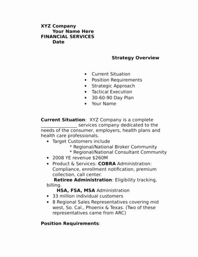 90 Day Business Plan Template Luxury 15 30 60 90 Day Plan Samples In Pdf Word