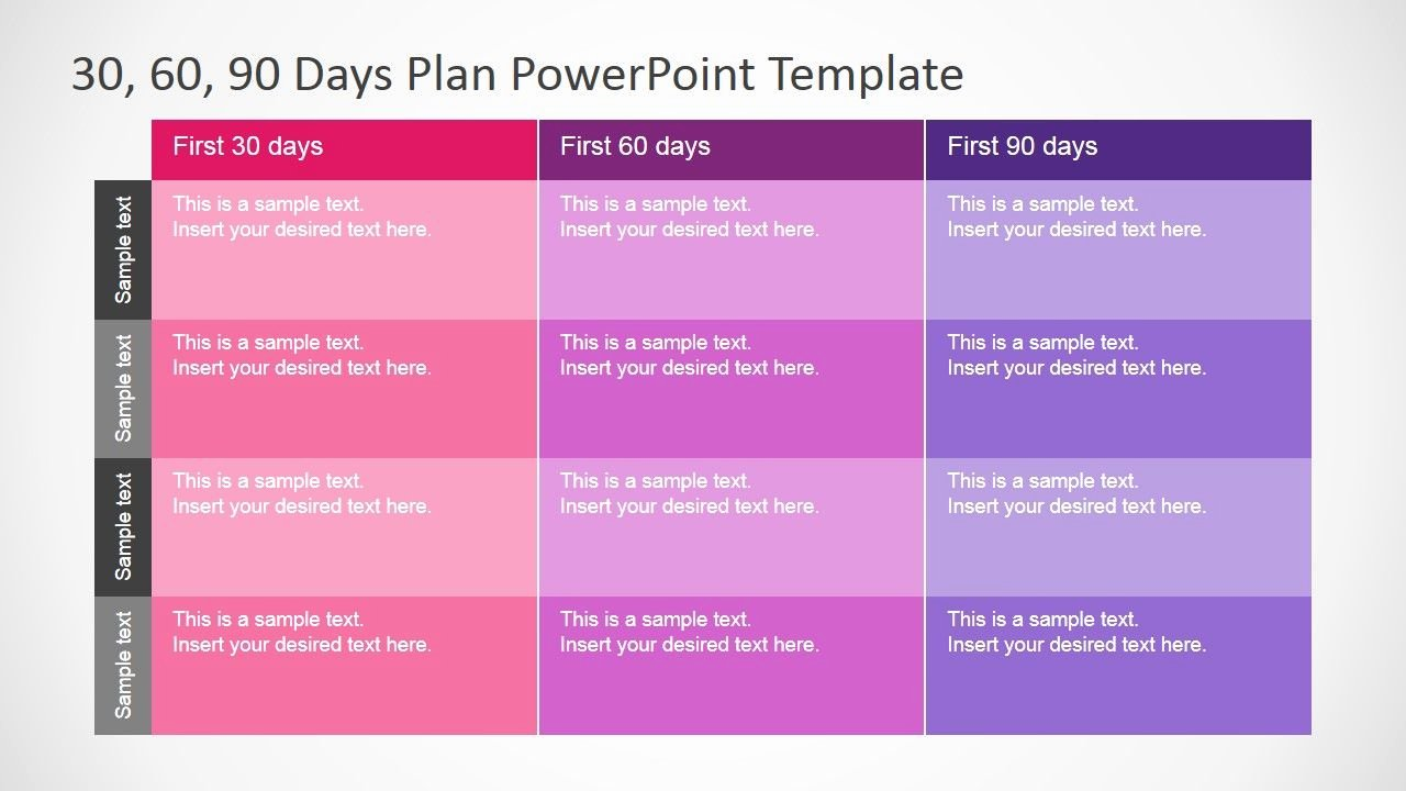 90 Days Action Plan Template Beautiful 30 60 90 Days Plan Powerpoint Template Career