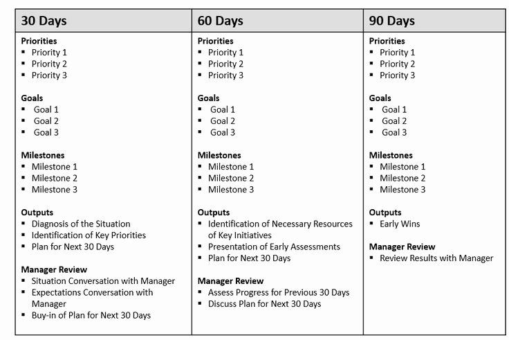 90 Days Action Plan Template Fresh First 90 Day Plan Template