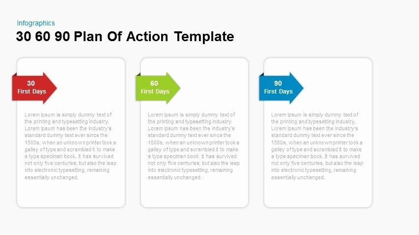 90 Days Action Plan Template Inspirational 30 60 90 Day Plan Action Template for Powerpoint and
