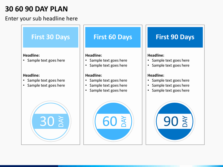 90 Days Action Plan Template Luxury 30 60 90 Day Plan Powerpoint Template