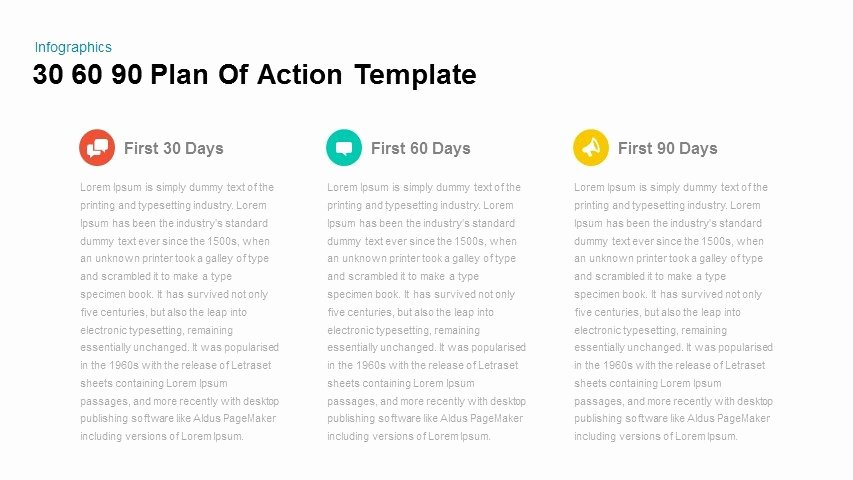 90 Days Action Plan Template New 30 60 90 Plan Action Powerpoint and Keynote Template