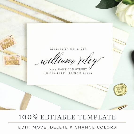 A7 Envelope Template Microsoft Word Beautiful A7 Envelope Template Printable Wedding Envelope Word or