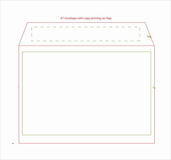 A7 Envelope Template Microsoft Word Beautiful A7 Envelope Template Word