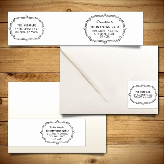 A7 Envelope Template Microsoft Word Elegant Printable Wrap Around Address Label Template for A7