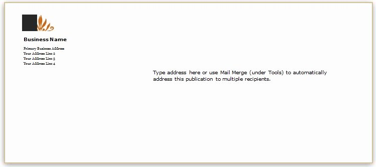 envelope templates for ms word