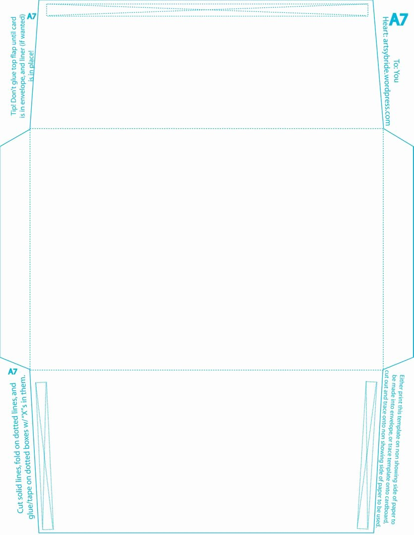 A7 Envelope Template Microsoft Word Lovely Diy – Envelopes & Liners