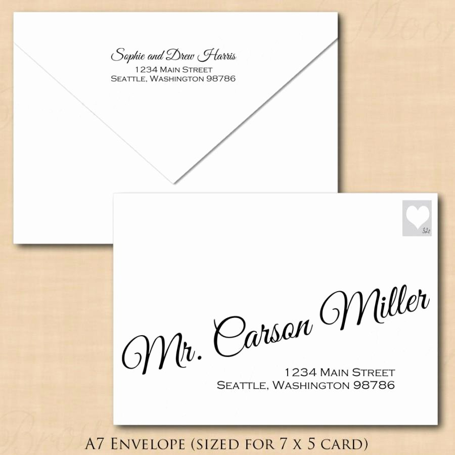 A7 Envelope Template Microsoft Word New Change All Colors Calligraphy Address Wedding Envelope