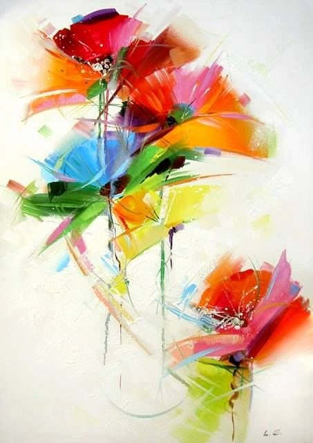 Abstract Painting Of Flower Beautiful 25 Best Ideas About Abstract Flower Paintings On Pinterest