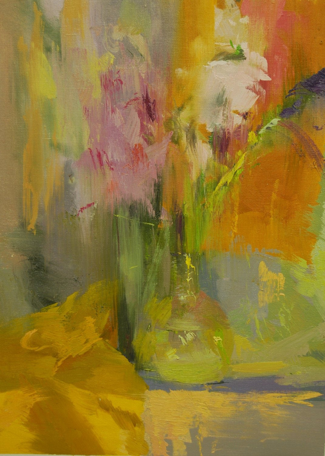 Abstract Painting Of Flower Elegant Colorful Abstract Painting Flowers Abstract Art Contemporary