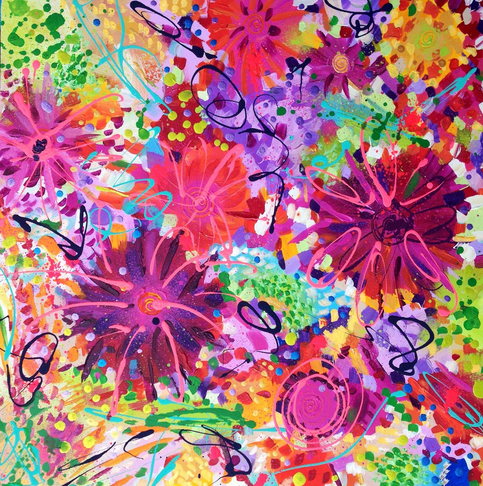 Abstract Painting Of Flower Fresh Leannehughesart S Blog