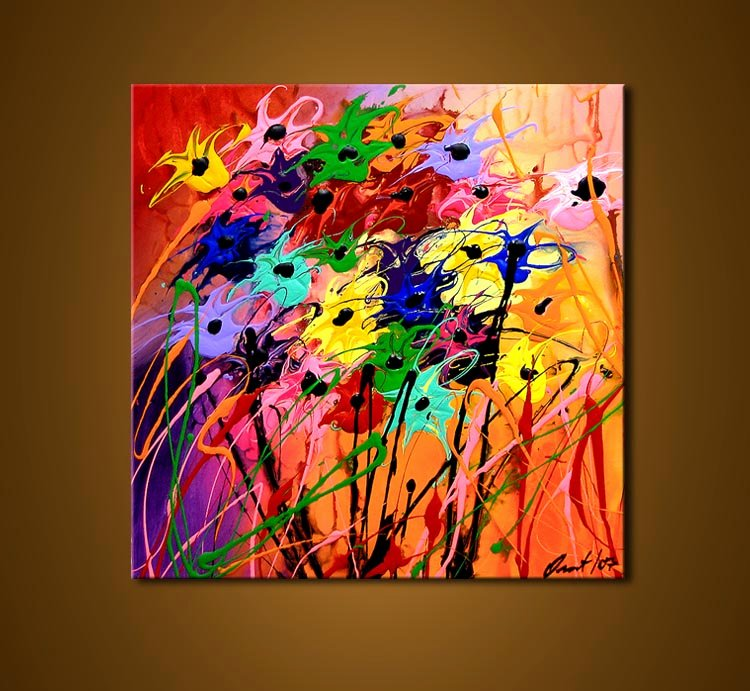 Abstract Painting Of Flower Fresh Painting for Sale Abstract Flowers 3551