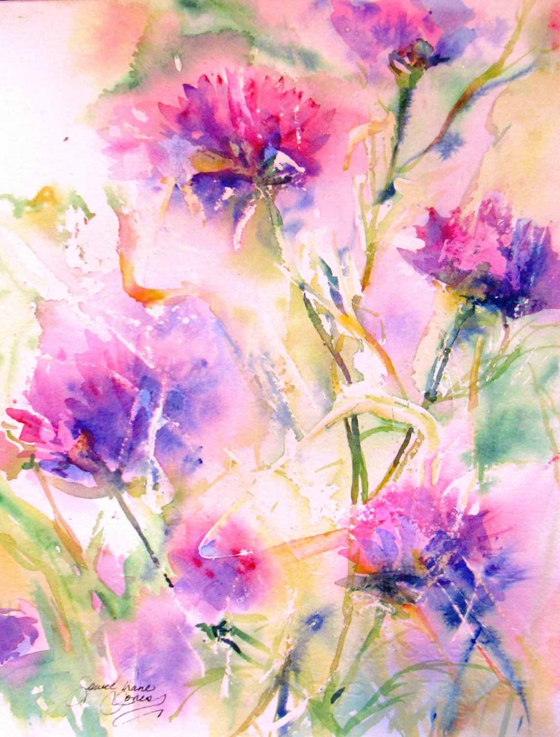 Abstract Painting Of Flower Luxury Abstract Flower original Watercolor Painting Modern