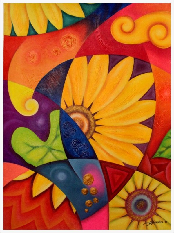 Abstract Painting Of Flower New 30 Creative Abstract Flower Paintings Bored Art