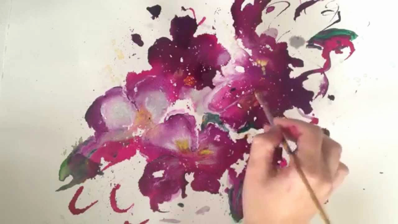 Abstract Painting Of Flower Unique Speed Abstract Flower Painting Demo