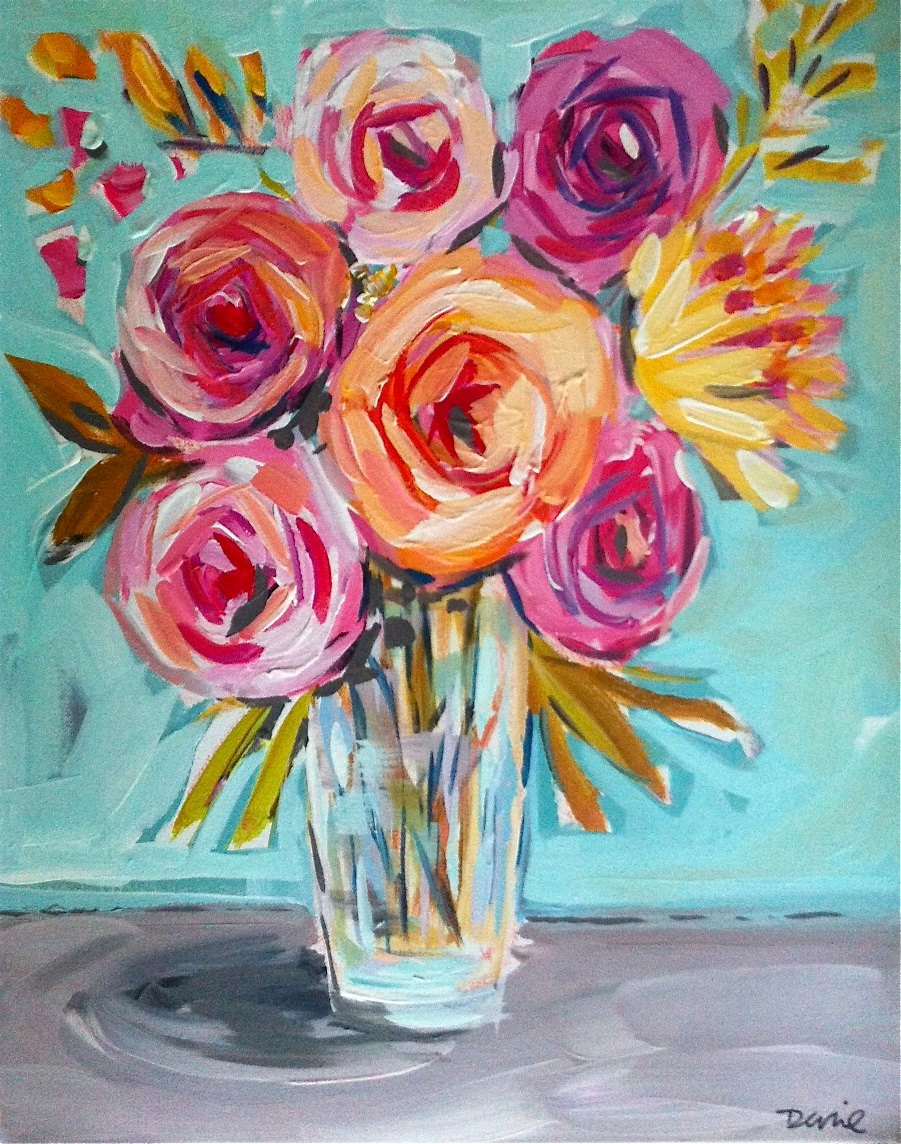 Abstract Painting Of Flowers Best Of Flower Painting Abstract Roses Peonies Flower Art