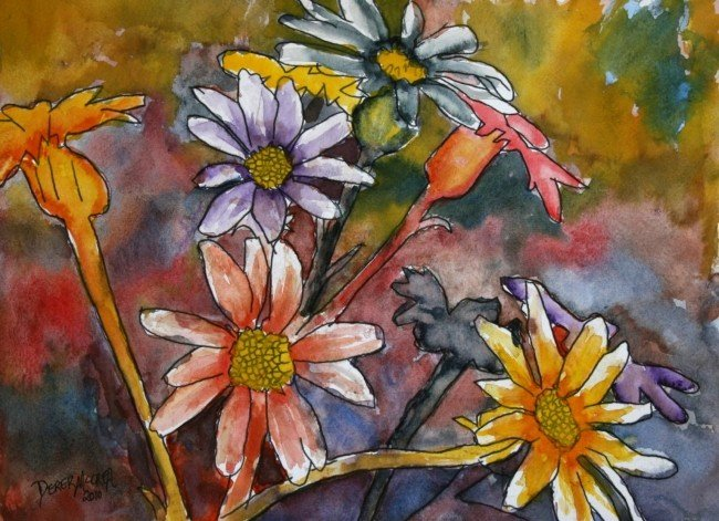 Abstract Painting Of Flowers Best Of Watercolor Paintings Art by Derek Mccrea January 2010