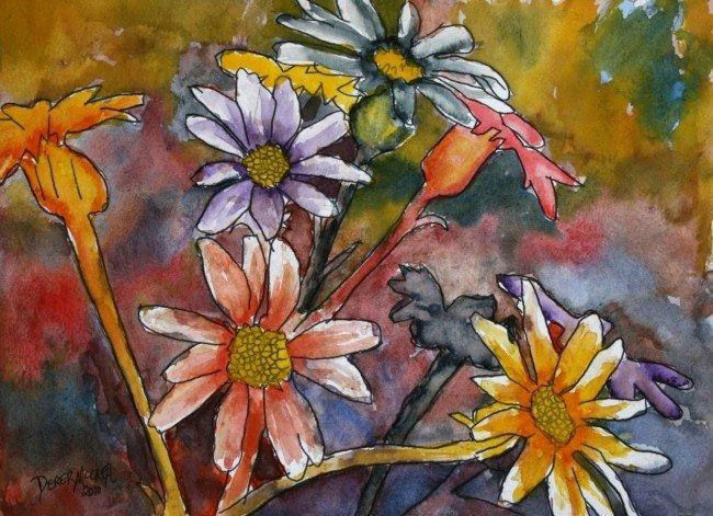 Abstract Painting Of Flowers Best Of Watercolor Paintings Art by Derek Mccrea January 2010