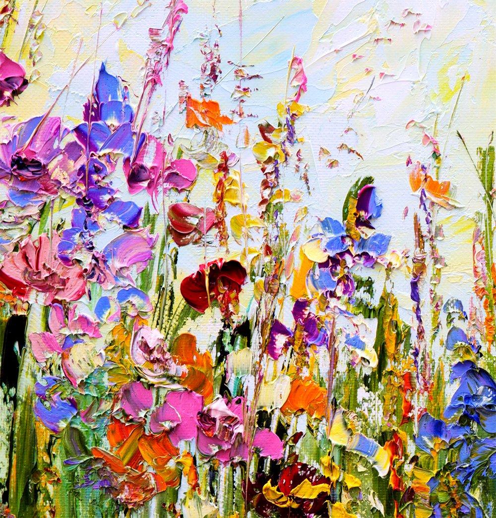Abstract Painting Of Flowers Elegant original Oil Painting Abstract Flowers On Canvas