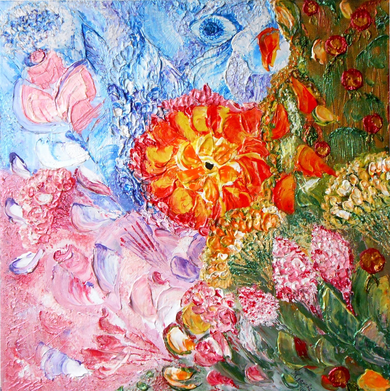 Abstract Painting Of Flowers Fresh original Paintings for Interior Exclusive Digital Print