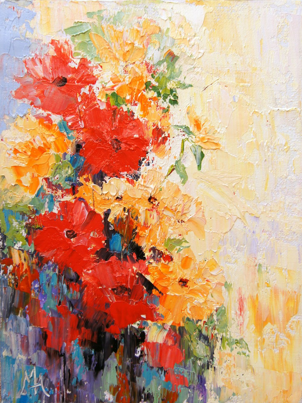 Abstract Painting Of Flowers New Artbymarion Joy Of Colour October 2015