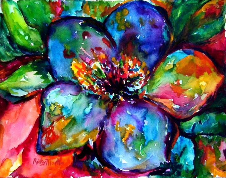 Abstract Paintings Of Flowers Elegant Free Shipping Abstract Vibrant Flower original Fine Art