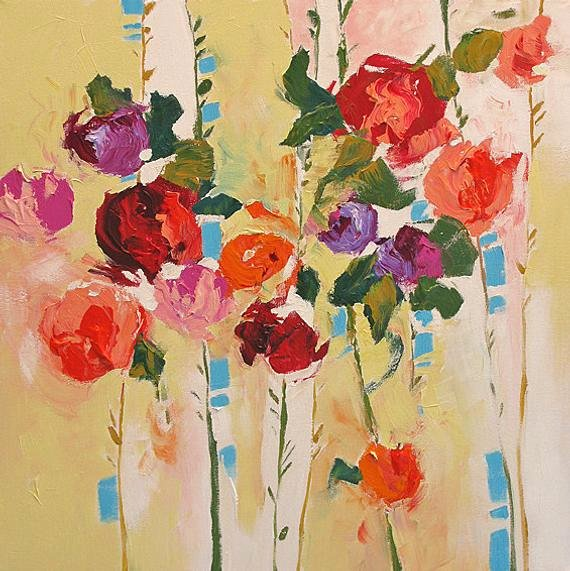Abstract Paintings Of Flowers Inspirational original Flower Painting Abstract Art Abstract Painting