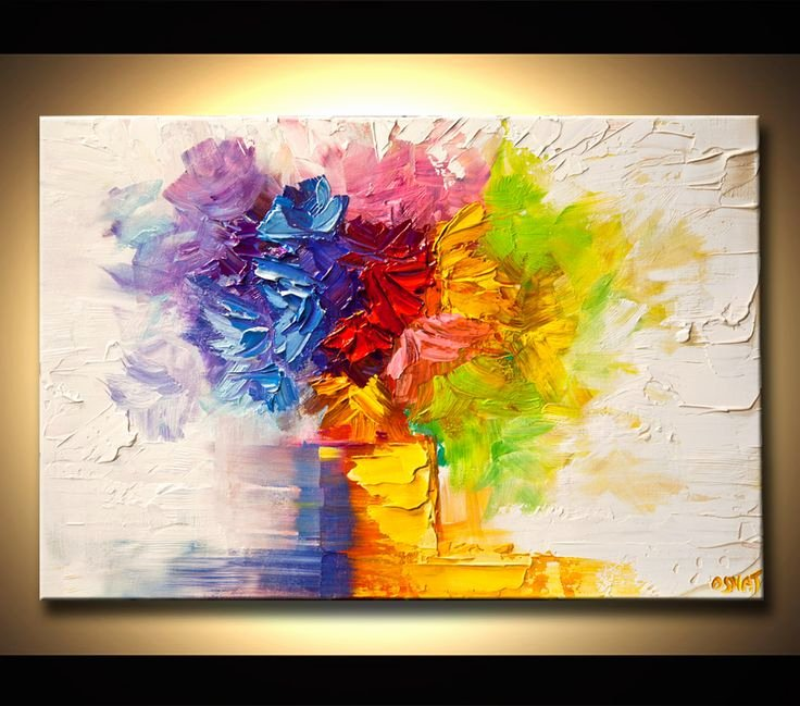 Abstract Paintings Of Flowers New Modern Flower Art Paintings