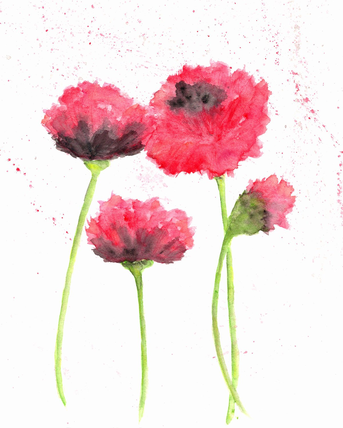 Abstract Paintings Of Flowers New Watercolor Flowers Flower Painting Watercolor Painting