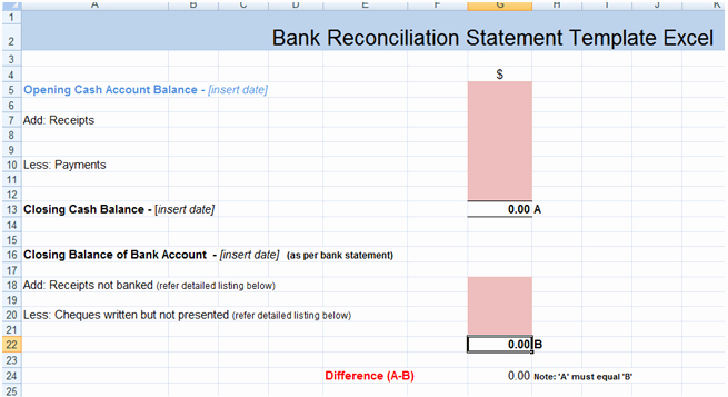 Account Reconciliation Template Excel Beautiful Bank Reconciliation Statement Excel Template Xls Microsoft Excel Templates