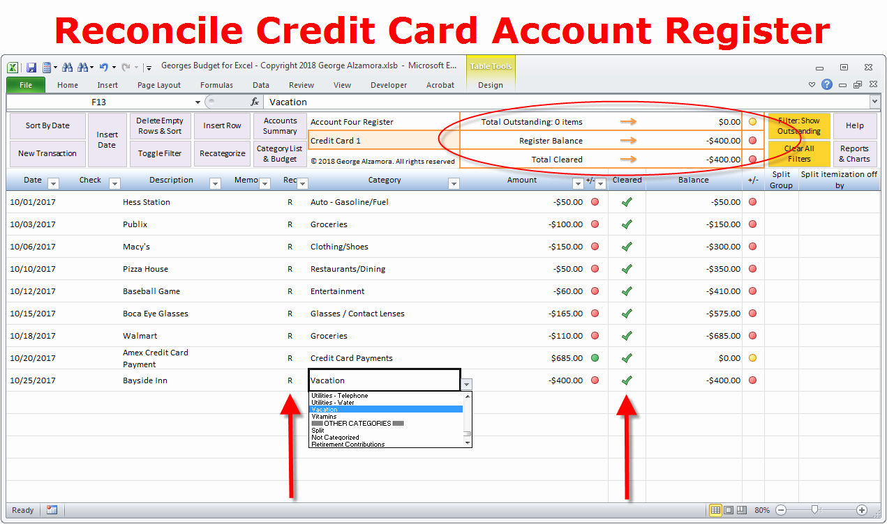 Account Reconciliation Template Excel Inspirational How to Reconcile Credit Card Account In Excel Checkbook Register – Buyexceltemplates
