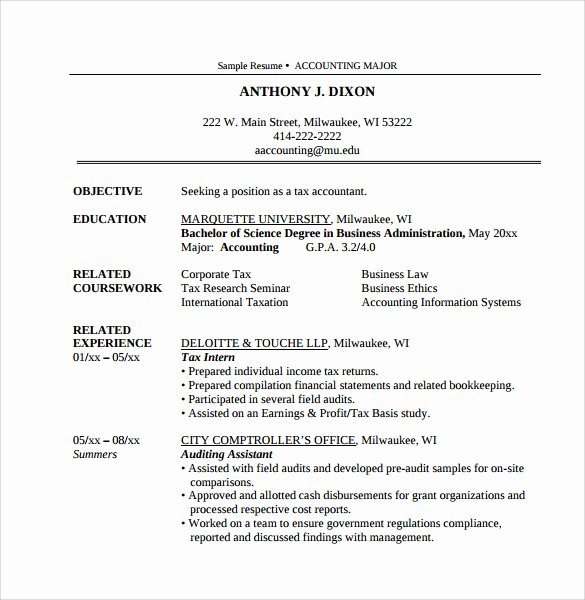 Accountant Resume Sample Pdf Best Of Sample Accountant Resume 15 Download Free Documents In Pdf Word