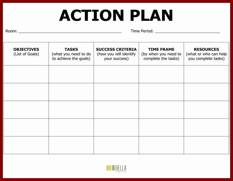Action Plan Example for Students Fresh Plan Action Template