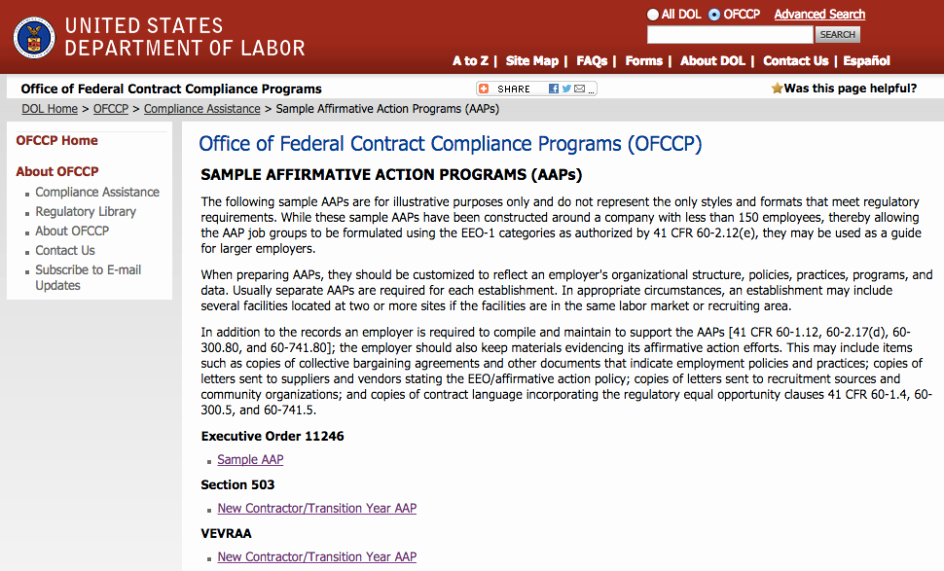 Affirmative Action Plan Template Best Of Ofccp's Newly Posted Sample Affirmative Action Plans