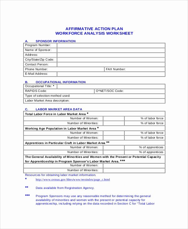 Affirmative Action Plan Template Fresh Sample Action Plans 46 Examples In Pdf Word