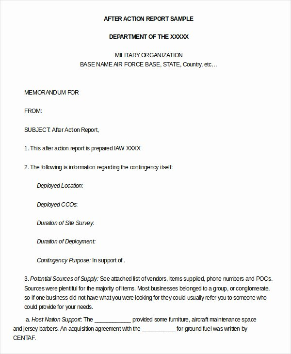 After Action Report Template Beautiful after Action Report Template 14 Free Word Pdf Apple Pages Google Docs Documents Download