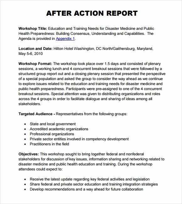 After Action Report Template Best Of after Action Report Template