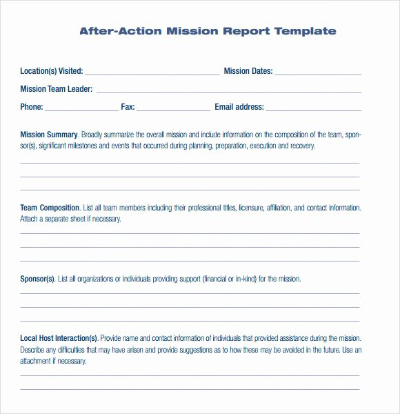 After Action Report Template Elegant 30 Of Template after Action Report