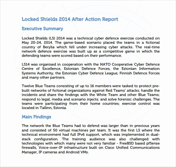 After Action Report Template Fresh Sample after Action Report 8 Documents In Pdf Word Docs